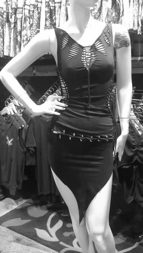 Transação Etsy -     SNAKE DRESS - Handmade, Tribal, Festival,Performers, Party Dress, Goa, Psytrance, pixie, stretch, open back, braided.,