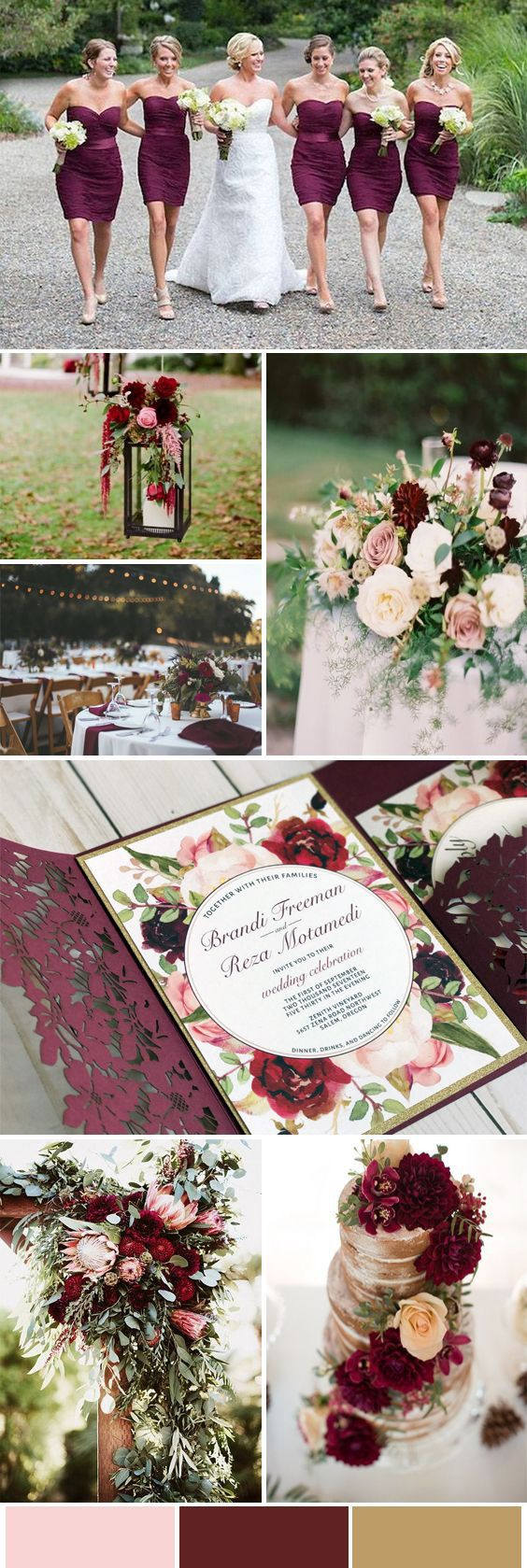 burgundy wedding inspo