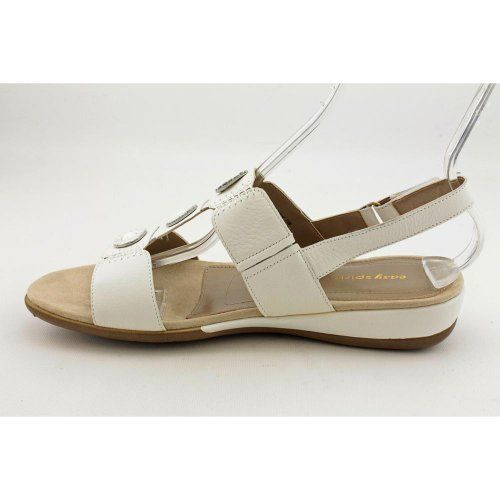 Easy Spirit Womens Heartbeat Sling Sandals White 11 MB * Visit the image link more details.