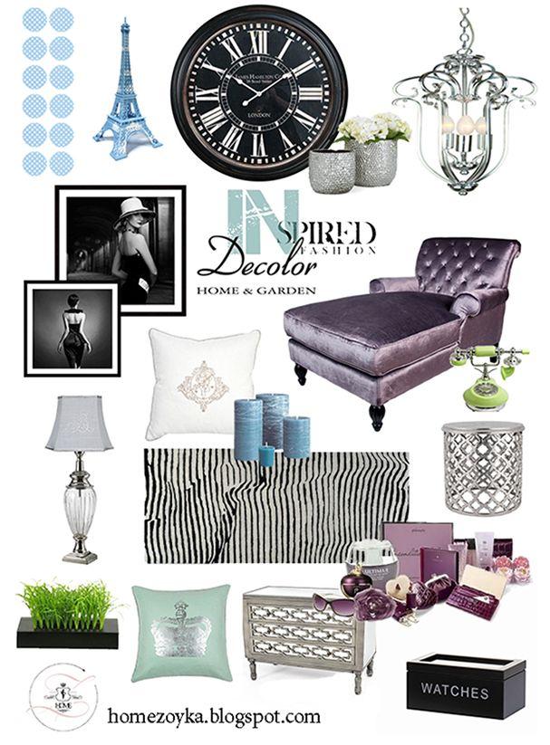 Inspiracje dla pięknego domu: kolaż z produktami ze sklepu Decolor.pl; autor: Zoyka Home