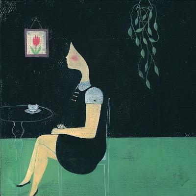 Valentina Sani, Disordinata-mente, acrilico e pastello su tela, cm 20x20