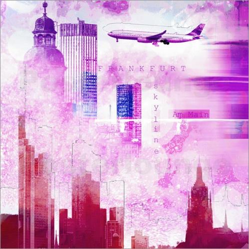 Eine Großstadt wie zum Beispiel Frankfurt, zeichnet sich oft auch durch einen modernen Flughafen aus. Dieser begeistert vor allem Fans von Flugzeugen und Luftfahrt. Als hochwertiges Kunstposter kann man sich die Faszination des Fliegens auch nach Hause holen.