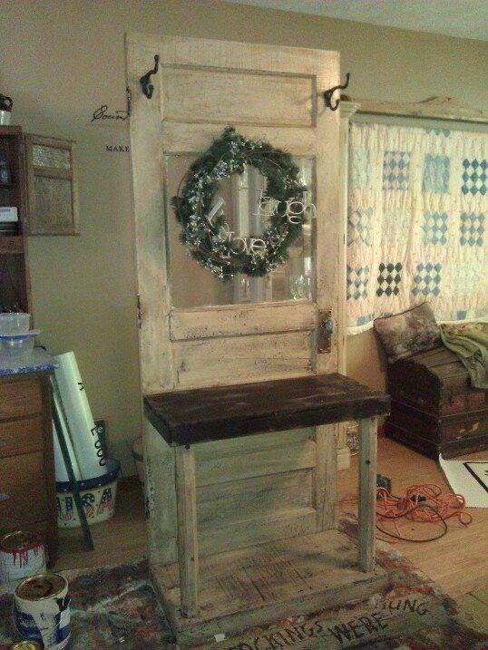 Old door repurposed. For sale at Railroad Towne in GI