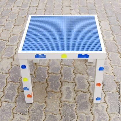 """Мебель ручной работы. Ярмарка Мастеров - ручная работа. Купить Игровой столик """"Лего"""" (детский стол для игр в конструктор Lego). Handmade."""