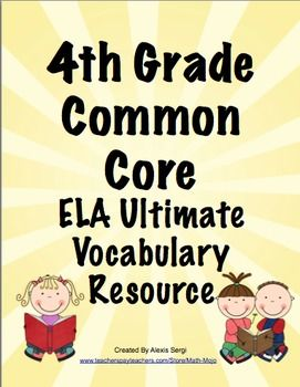 Common Core Vocabulary Word Wall and More - Vocabulary is essential! This 200+ page printable packet includes a ELA vocabulary word wall, flash cards, and vocabulary flip books! Available for 3rd, 4th, and 5th grades! $
