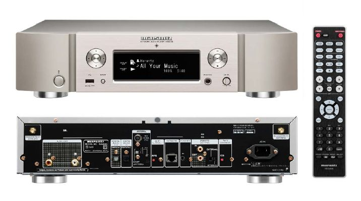 MARANTZ NA6005 network media player for playing back audio files (FLAC, ALAC, DSF etc.)  stored on the computer - in stellar SQ. Practically, it operates as a digital to analog converter between the computer and the receiver, accessing the files through a router.