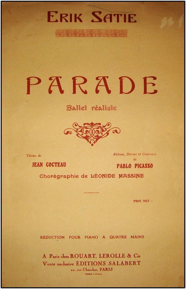 Erik Satie Parade - Pablo Picasso - Wikipedia, la enciclopedia libre
