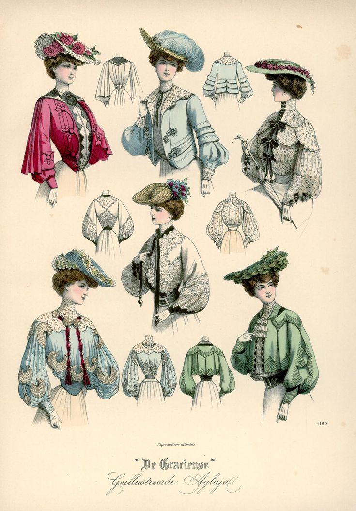 [De Gracieuse] Blouses en Bolero-phantasie voor jonggehuwde en jonge meisjes (August 1903)