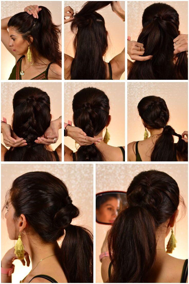 5 Ponytail Hairstyle Everyday Ponytail 5 Chic Ponytails Easy Hairstyle Easy Hairstyles Halfup Halfd Braided Hairstyles Updo Chic Ponytail Braided Hairstyles