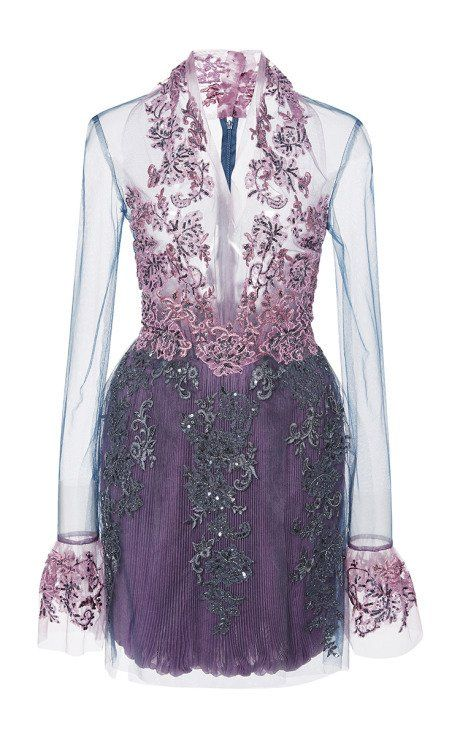 Re-Embroidered Lace Illusion Dress by Reem Acra