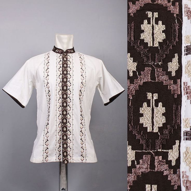 Very Cool Moroccan Mens Kaftan Embroidery Shirt Top Quality Cotton Tunic dress #Handmade