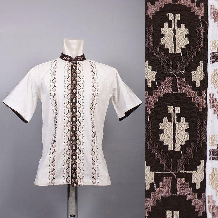 Very Cool Moroccan Mens Kaftan Embroidery Shirt Top Quality Cotton Tunic dress #Handmade