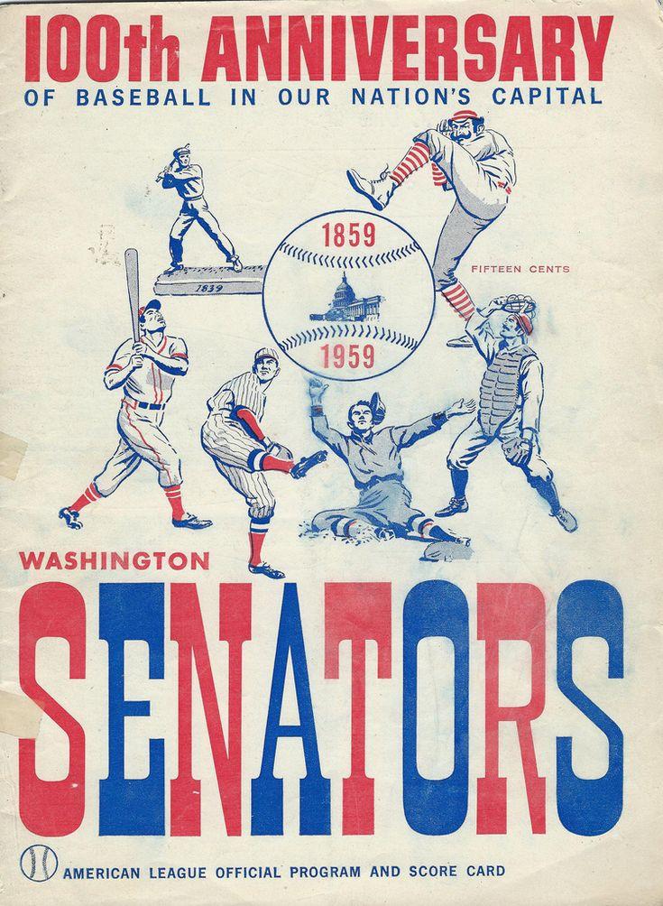 1959 Griffith Stadium Scorecard