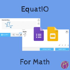 Google Docs Math Type is now reality with EquatIO. Students can handwrite or voice type or predict and insert math equations into Docs and Forms