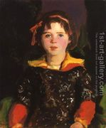 Bridgie Aka Girl With Chinese Dress  by Robert Henri
