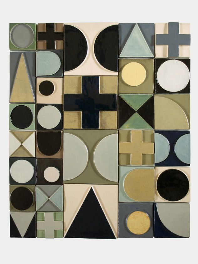 Sculptural Tiles from a London Ceramicist by Lubna Chowdhary http://decdesignecasa.blogspot.it