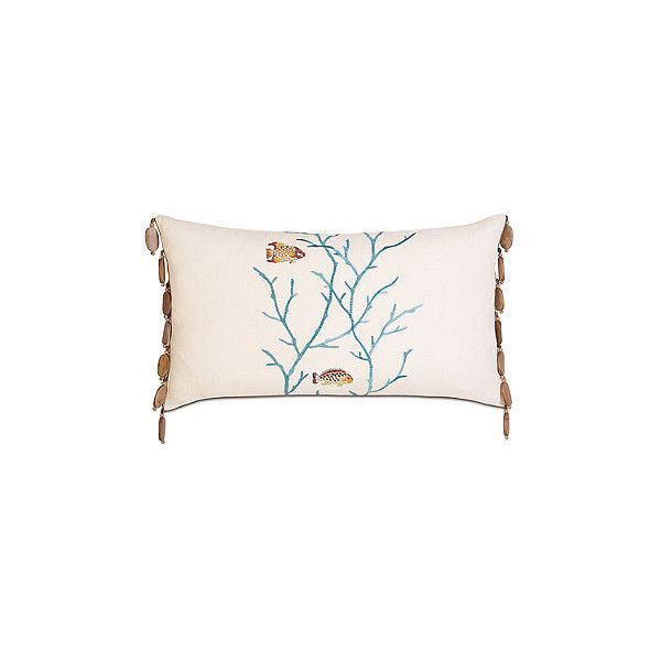 Suwanee Bolster Sham ($229) ❤ liked on Polyvore featuring home, bed & bath, bedding, bed accessories, tropical bedding, frontgate, floral bedding, eyelet bedding and zippered bedding