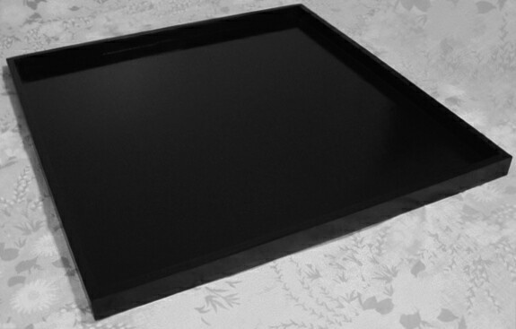 Extra Large Handmade Black Wood Ottoman Tray 36 X 36 160