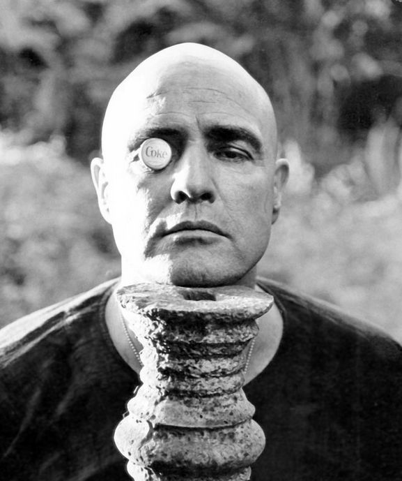 Marlon Brando on the set of Apocalypse Now, 1979.