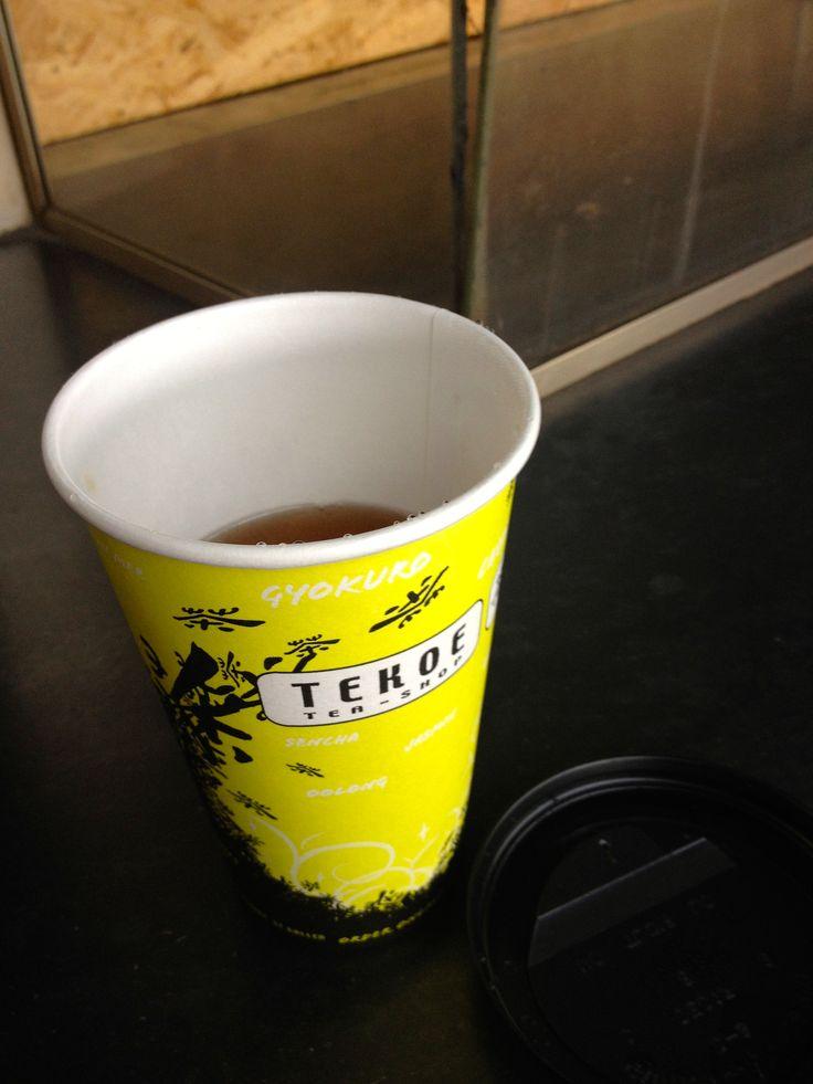 "Basel station : My ""second flush"" Darjeeling tea. So good!"