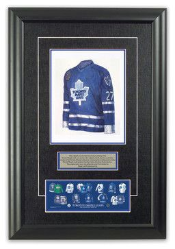Original art of the NHL 1992-93 Toronto Maple Leafs jersey - traditional - Sports And Game Room Memorabilia - Heritage Sports Art