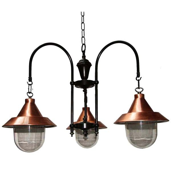 Barea B Copper 3 Arm Light Fitting Hall LightingDining