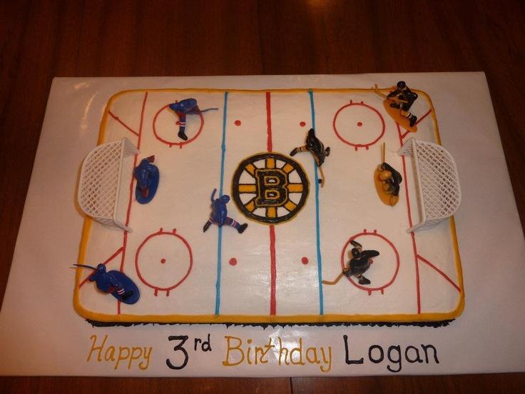 Boston Bruins Hockey Birthday Cake