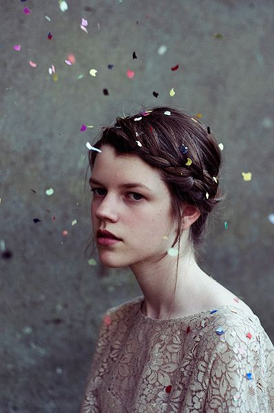 confetti by mariehochhaus, via Flickr-  Awesome Photo Idea--Yes awesome and she…