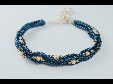 Interlace Bangle   A Bronzepony Beaded Jewelry Design   YouTube