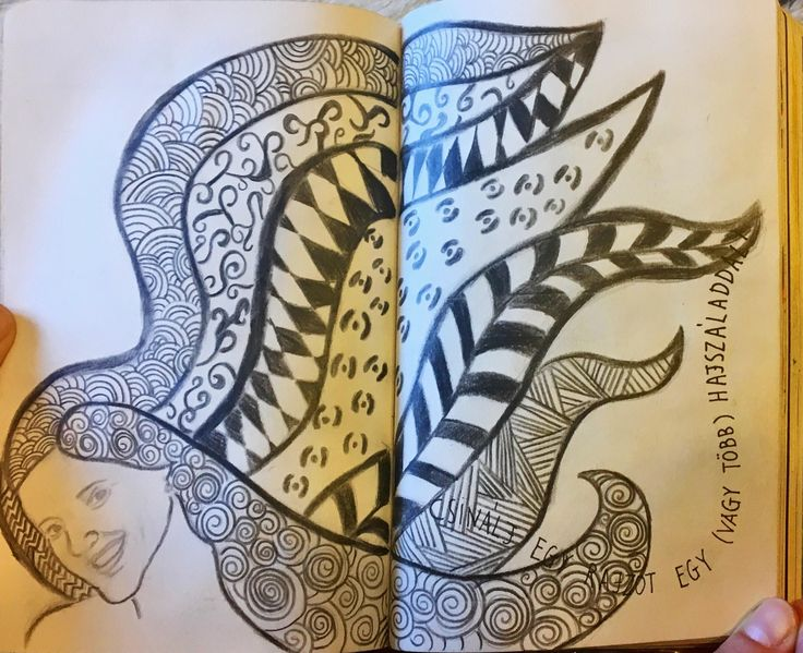 #NyírdKiEztANaplót #WreckThisJournal #hair #art #haj #Zentangle