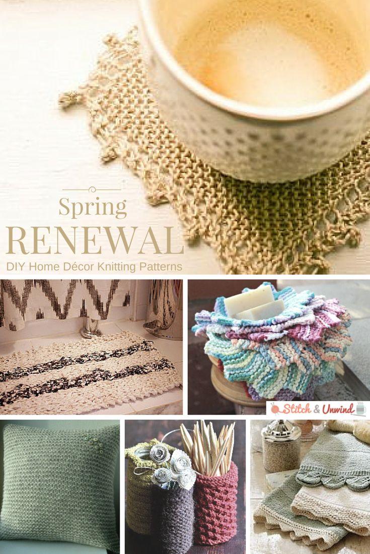 Spring Renewal: DIY Home Décor Knitting Patterns  Home, DIY home decor and Knitting patterns