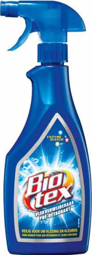 Biotex Vlekverwijderaar - Spray 500 ml  Description: Biotex Vlekverwijderaar - Spray 500 ml Biotex Vlekverwijderaar is effectief tegen hardnekkige vlekken en zacht voor kleding en kleuren. Met actieve biologische enzymen voor het verwijderen van de hardnekkigste vlekken Veilig voor uw kleding en kleuren Inhoud: Vlekverwijderaar Spray 500 ml  Price: 2.49  Meer informatie