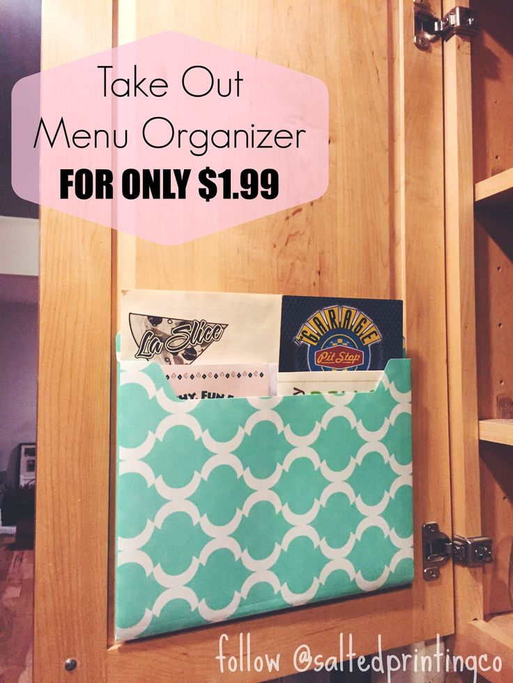 Take Out Menu Organizer for only $1.99!
