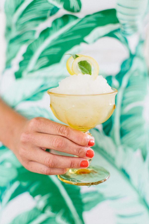 Frozen Bubbly Lemonade: http://www.stylemepretty.com/living/2015/09/04/15-cocktail-recipes-to-toast-the-weekend/