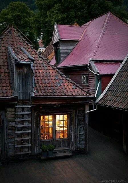 Old Town, Bergen, Norway photo via ju27 - Blue Pueblo