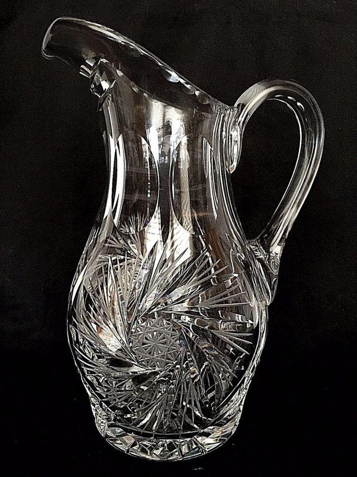 Majestic Crystal Pinwheel Water Lemonade Iced Tea Pitcher 32 Ounces #Majestic