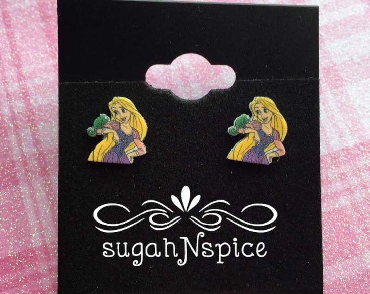 Rapunzel Earrings - Pascal Earrings - Tangled Earrings - Rapunzel and Pascal Earrings - Disney Earrings - Rapunzel Jewelry - Girl's earrings by sugahNspice on Etsy https://www.etsy.com/listing/229081147/rapunzel-earrings-pascal-earrings