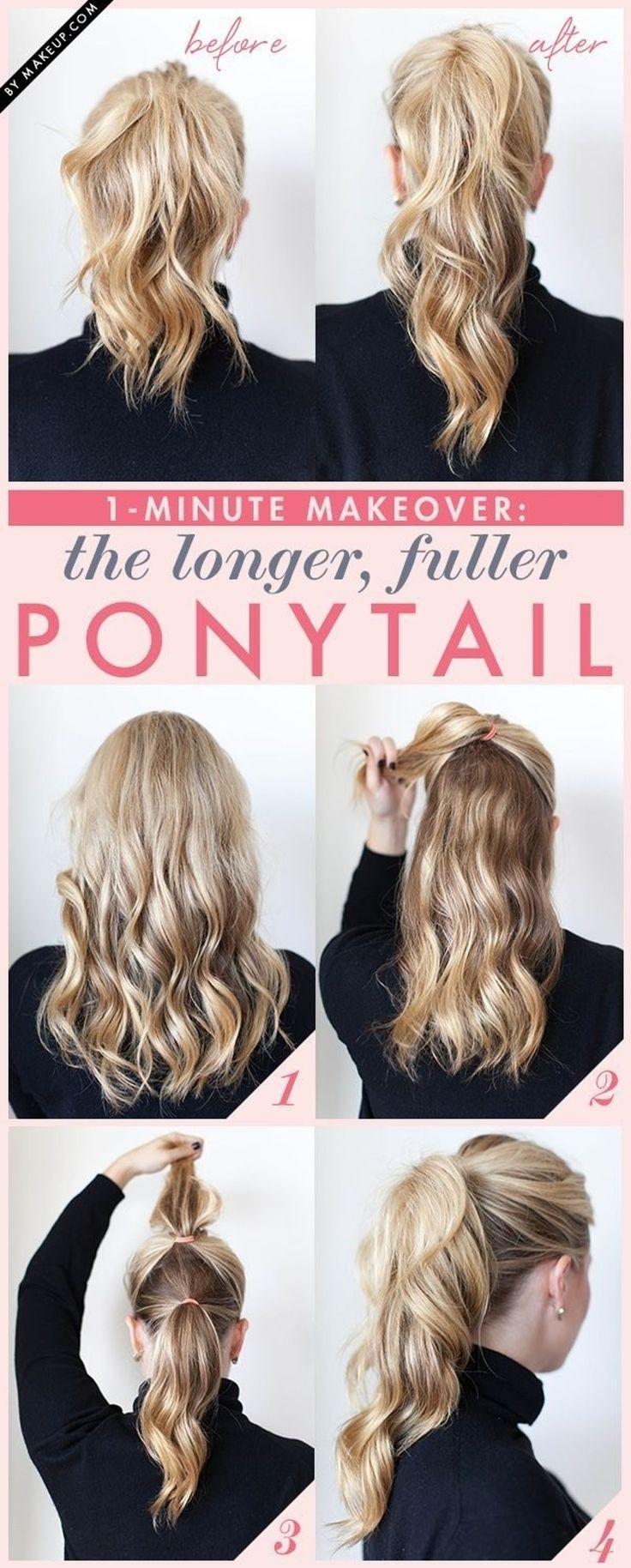 2. #Fuller Ponytail - 16 #Gorgeous Hair Styles for Lazy Girls like Me ... → Hair #Styles