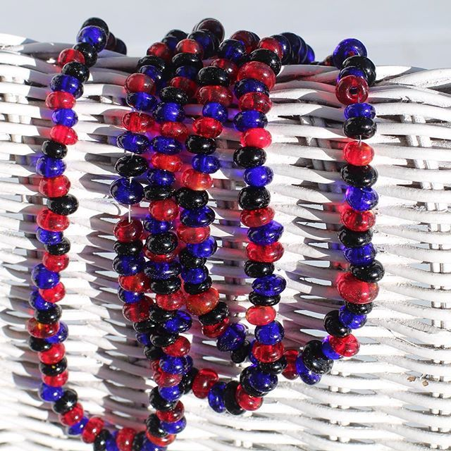 Glass beads and wicker always a good combination as we head into summer. Check out more summer goodness in the link.