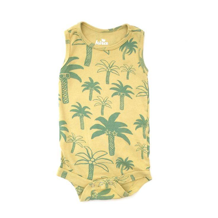 Rasta Palm Trees Tank Onesie