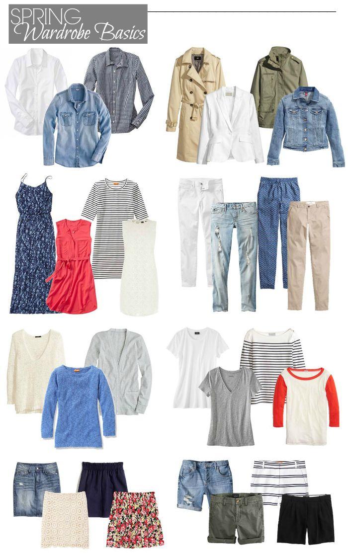 Closet essentials for spring