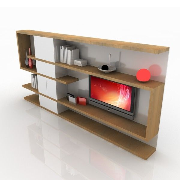 modern wall unit - need more storage than this.