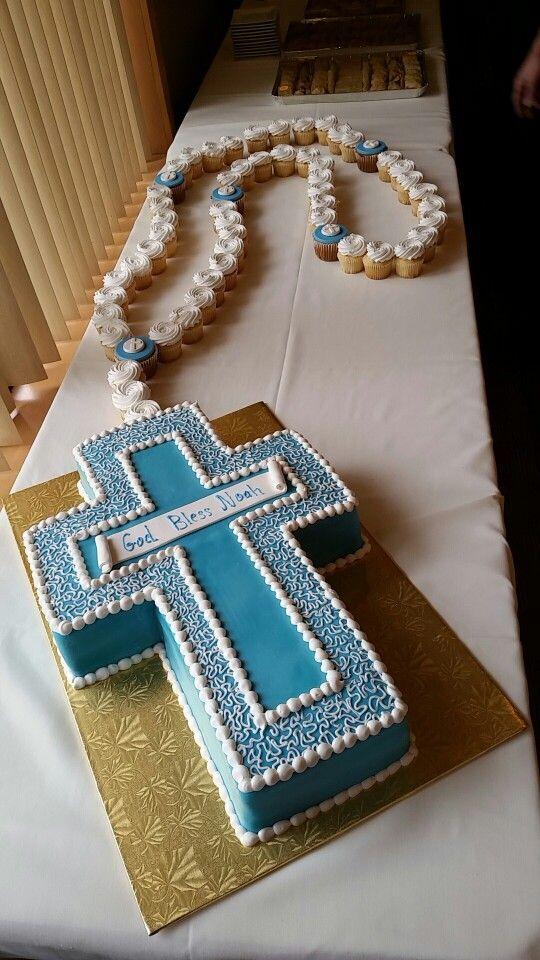 Baptism rosary cake