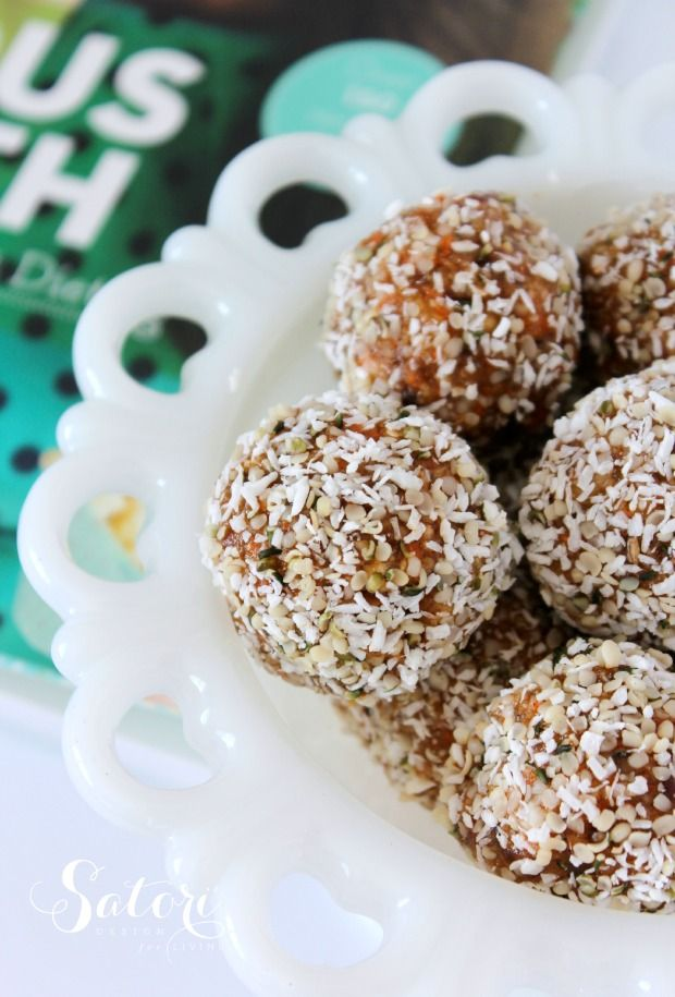 Joyous Health Raw Carrot Cake Balls- healthy snack or dessert alternative