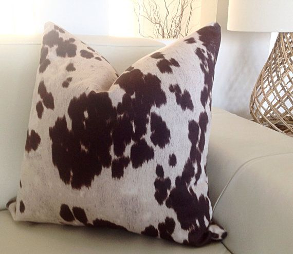 Cow Hide Animal Print Scatter Cushions Cushion by MyBeachsideStyle