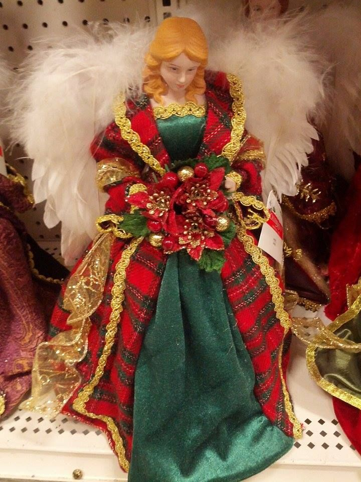 Angel with Christmas dress on!
