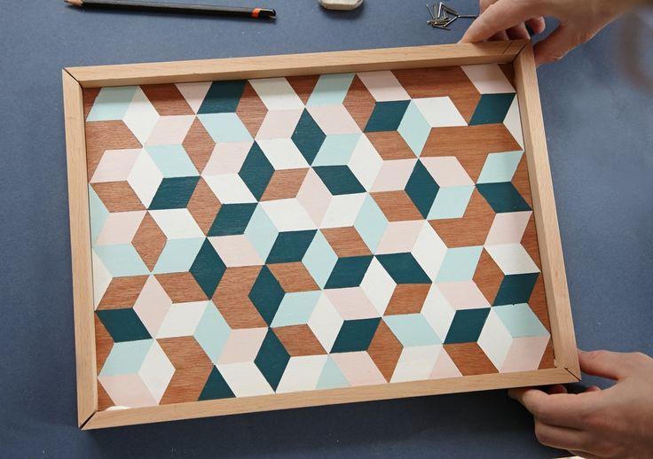 """DIY_plateau_geometrique de """"my rainy days"""" un blog à découvrir .. superbe travail"""
