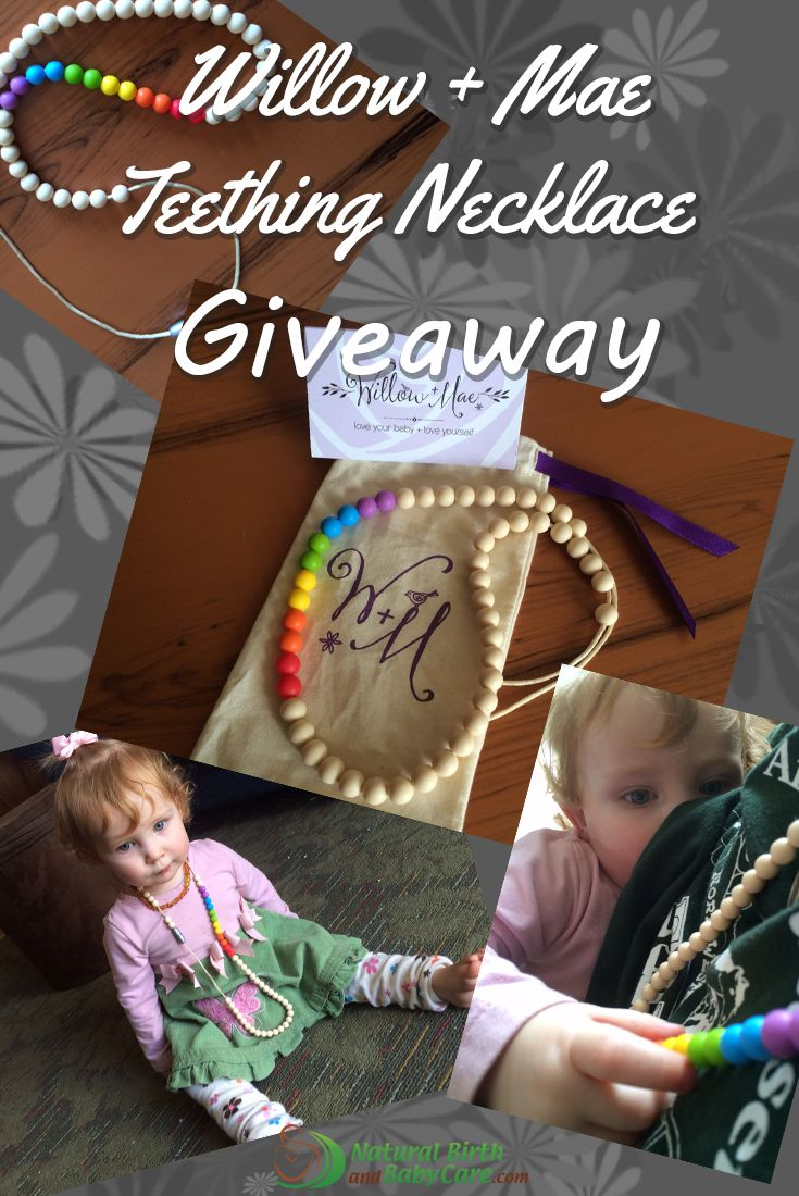 Win a teething necklace! Looking for teething jewelry that's functional and stylish
