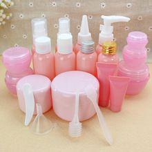 Путешествия косметика бутылки розовый распылитель давление рот бутылки клюв крем-маска коробка мытья бутылок(China (Mainland))
