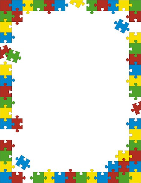 Printable puzzle border. Free GIF, JPG, PDF, and PNG downloads at http://pageborders.org/download/puzzle-border/. EPS and AI versions are also available.